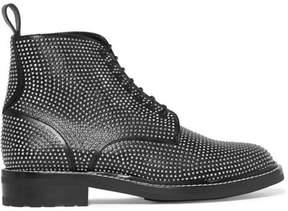 Saint Laurent William Studded Leather Ankle Boots - Black