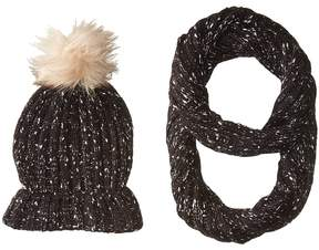 Betsey Johnson Midnight Gleam Two-Piece Set Beanies