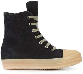 Rick Owens extended tongue lace-up sneakers