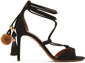 Dolce & Gabbana Black Suede Lace-Up Sandals