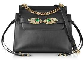 Roberto Cavalli Women's Black Leather Shoulder Bag.