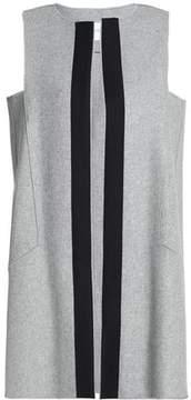 Amanda Wakeley Grosgrain-Trimmed Wool-Blend Vest