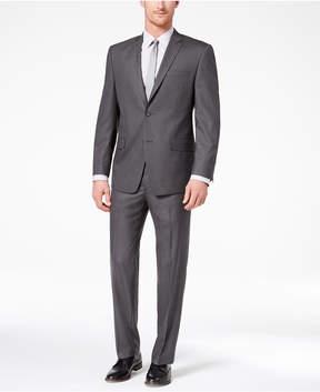 Andrew Marc Men's Classic-Fit Stretch Medium Gray Solid Suit
