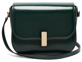 Valextra Iside Cross Body Leather Bag - Womens - Dark Green