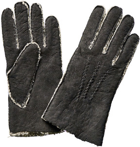 Portolano Men's Black Suede Gloves
