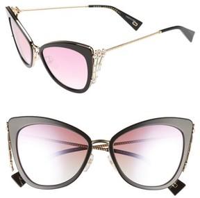 Marc Jacobs Women's Embellished 56Mm Cat Eye Sunglasses - Blue
