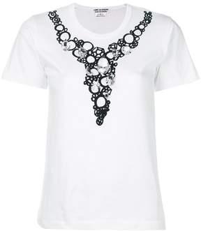 Comme des Garcons embellished neck T-shirt