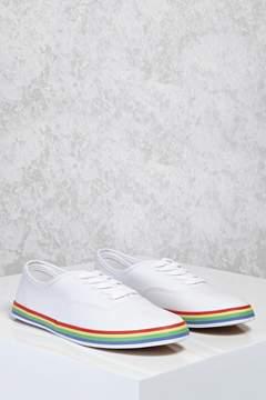 FOREVER 21 Rainbow Stripe Sneakers