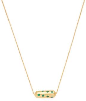 Amrapali Women's 18K Yellow Gold & Emerald Capsule Necklace
