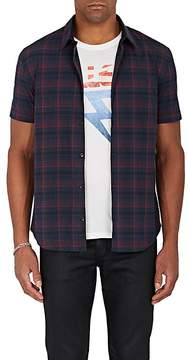 John Varvatos Men's Plaid Stretch-Cotton Poplin Shirt