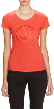 Armani Jeans Women's Embroidered Logo T-Shirt