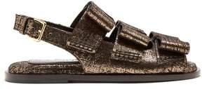 Marni Triple-bow slingback leather sandals