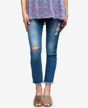 Articles of Society Maternity Medium Wash Ankle Jeans