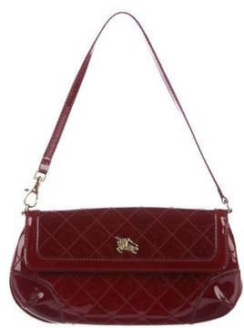 Burberry Quilted Patent Leather Clutch - RED - STYLE