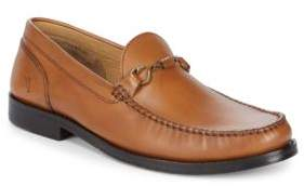 Tommy Bahama Round Toe Leather Loafers