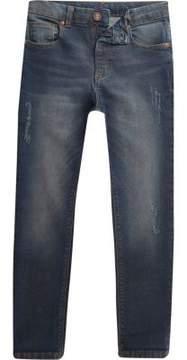 River Island Boys dark blue wash Sid skinny jeans