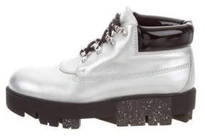 Acne Studios Metallic Platform Ankle Boots