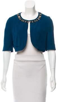 Matthew Williamson Embellished Silk Cropped Jacket