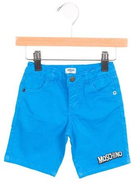 Moschino Boys' Logo-Embroidered Knee-Length Shorts