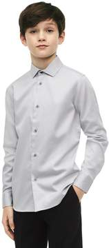 Calvin Klein boys cotton blend grey dress shirt