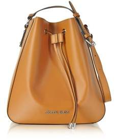 Armani Jeans Women's Orange Faux Leather Shoulder Bag.