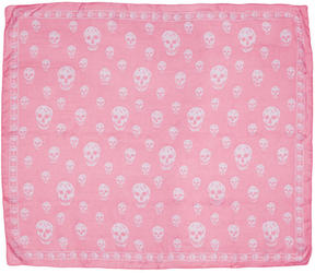 Alexander McQueen Pink Skull Scarf