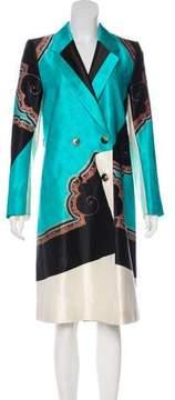 Dries Van Noten Printed Wool-Blend Coat
