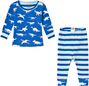 Hatley Blue Dinosaur Menagerie Long Sleeve Mini Pyjama Set