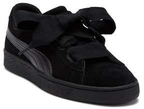 Puma Suede Heart Snake Embossed Sneaker (Big Kid)