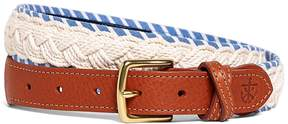 Brooks Brothers Kiel James Patrick White and Light Blue Braided Belt