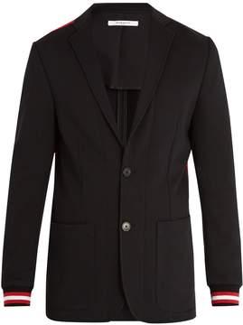 Givenchy Ribbed-cuff single-breasted blazer