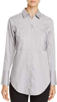 Foxcroft Patrice Pinstripe Button Down Top
