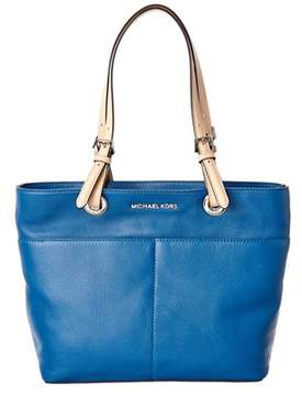 Michael Kors Bedford Leather Tote. - BLUE - STYLE