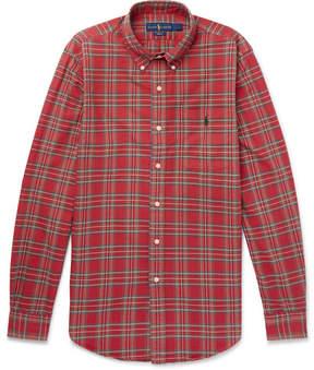 Polo Ralph Lauren Slim-Fit Button-Down Collar Checked Cotton Oxford Shirt