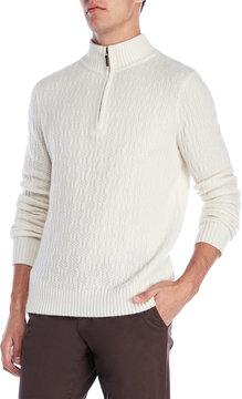 Qi Quarter-Zip Cashmere Sweater
