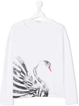 Little Marc Jacobs teen Swan print T-shirt