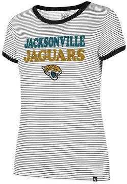 '47 Women's Jacksonville Jaguars Striped Ringer T-Shirt