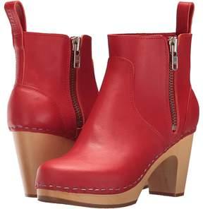 Swedish Hasbeens Zip It Super High Women's Zip Boots