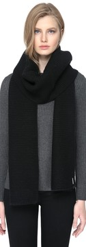 Soia & Kyo ISOLDE reverse stitch knit scarf in black
