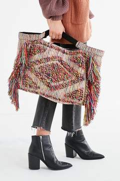 Urban Outfitters Textured Multicolored Fringe Tote Bag