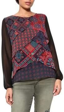 Desigual Women's Multicolor Polyester Blouse.