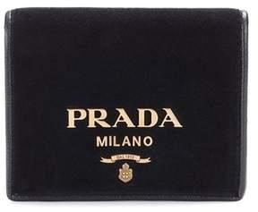 Prada Embellished velvet wallet