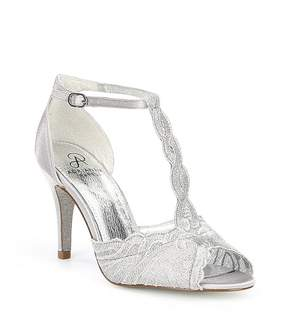 Adrianna Papell Firenze Lace and Satin T-Strap Dress Sandals