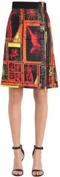 Fausto Puglisi Printed Silk Twill Mini Skirt