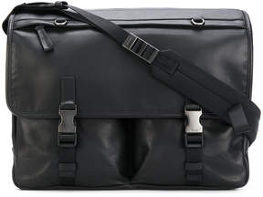 Prada double straps laptop bag