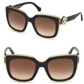 Roberto Cavalli Monogram Crest Square Sunglasses