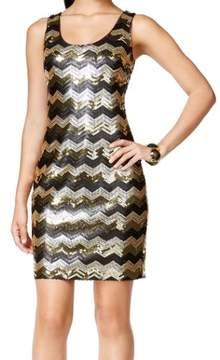 GUESS Women's Chevron Sequin Tank Dress