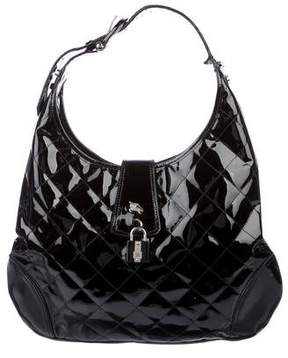 Burberry Patent Leather Brook Hobo