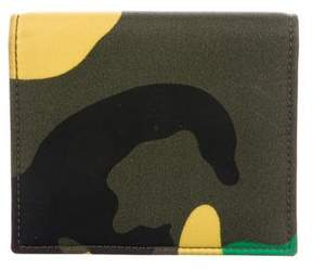 Valentino Camouflage Business Cardholder