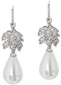 Elizabeth Taylor As Is Simulated Pearl Earrings